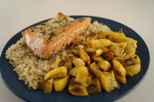 Healthy & Satisfying Salmon with Quinoa & Squash
