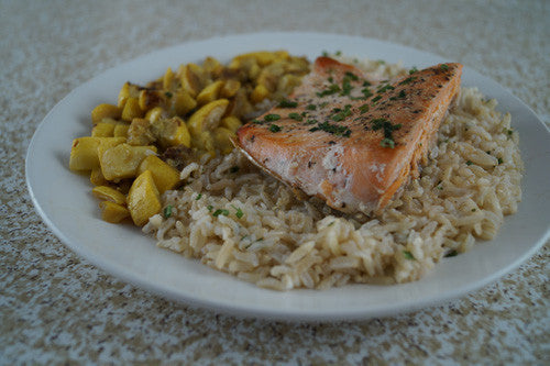 You're New Favorite: Salmon, Squash & Rice