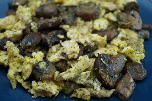 Quick & Easy Scrambled Eggs with Mushrooms Skillit Cooking