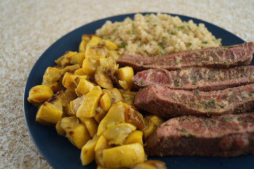 Mmmmmm, Steak (with Quinoa & Squash)