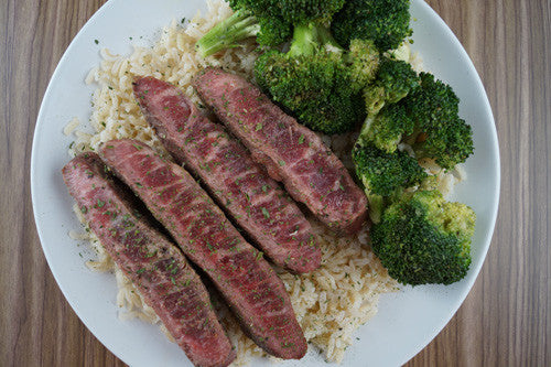 Easy Seared Lamb with Broccoli & Rice
