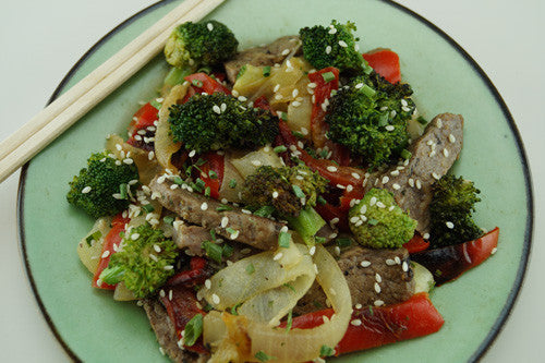 One-Pan Stir-Fry: Steak, Peppers, Broccoli & Onions Skillit Cooking