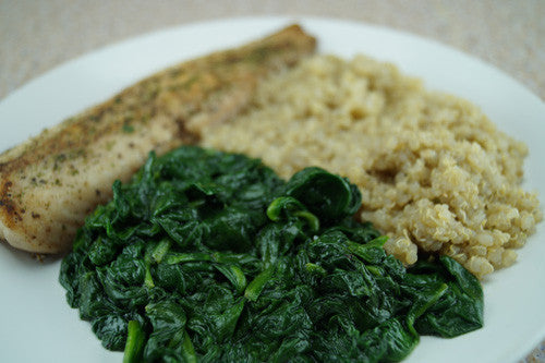 The Flat-Abs Special: Whitefish, Quinoa & Spinach