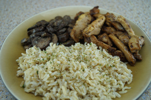 Teriyaki Pork, Rice & Mushrooms