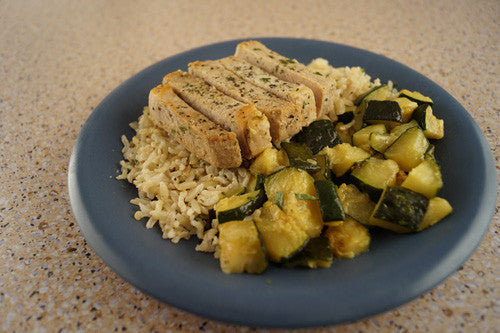 Quick & Easy Pork, Zucchini & Rice