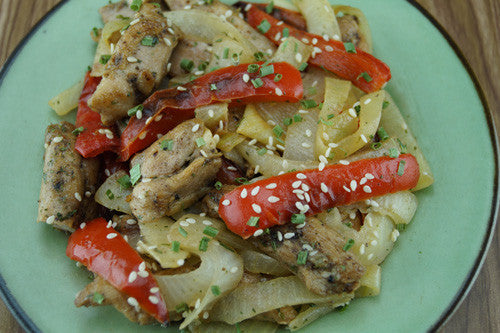 One-Pan Wonder: Chicken, Peppers & Onions Stir-Fry Skillit Cooking