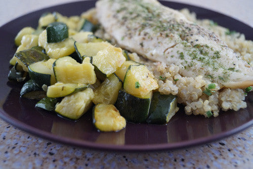 Sesame-Ginger Whitefish with Quinoa & Zucchini