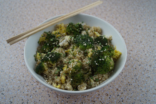 Broccoli & Cauliflower Egg-Fried Quinoa