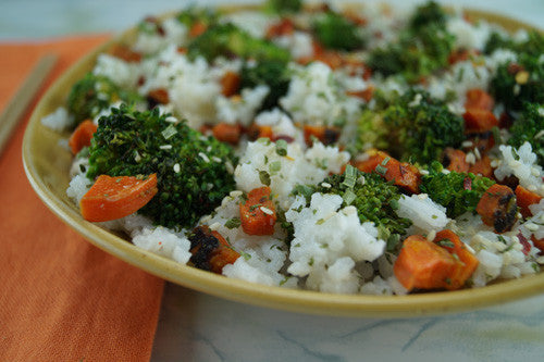 Rice with Chicken, Broccoli, & Carrot