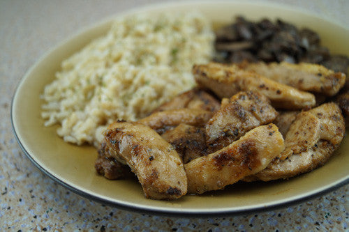 Pan-Seared Chicken & Mushrooms with Quinoa