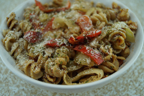Spicy Peppers & Onions Pasta with Ground Pork Skillit Cooking