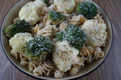 Deceptively Simple Pasta with Broccoli, Cauliflower & Ground Pork