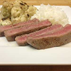 pan-seared-steak-with-cauliflower-&-rice-skillit-simple-easy-recipes-dinner-skillet