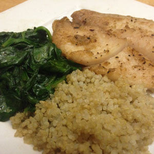 the-flat-abs-special:-whitefish,-quinoa-&-spinach-skillit-simple-easy-recipes-dinner-skillet
