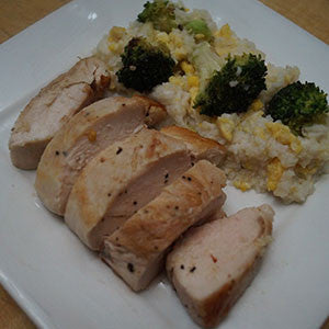 pan-seared-chicken-with-broccoli-&-egg-fried-rice-skillit-simple-easy-recipes-dinner-skillet