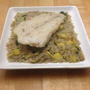 pan-cooked-cod-with-squash-and-zucchini-fried-quinoa-skillit-simple-easy-recipes-dinner-skillet