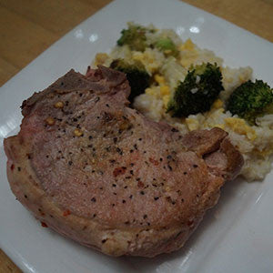 pork-chop-with-broccoli-&-egg-fried-rice-skillit-simple-easy-recipes-dinner-skillet