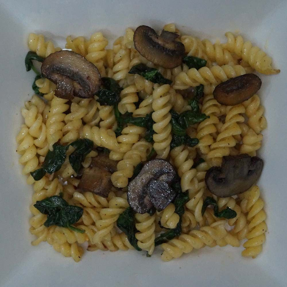 skillit-cooking-simple-easy-recipe-pasta-spinach-mushroom