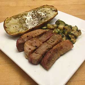 pan-cooked-pork-&-zucchini-with-a-baked-'tater-skillit-simple-easy-recipes-dinner-skillet