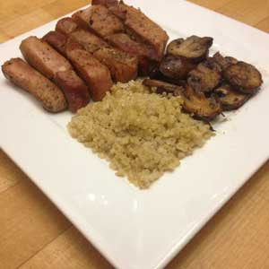 pan-fried-pork-chop-with-balsamic-mushrooms-&-quinoa-skillit-simple-easy-recipes-dinner-skillet