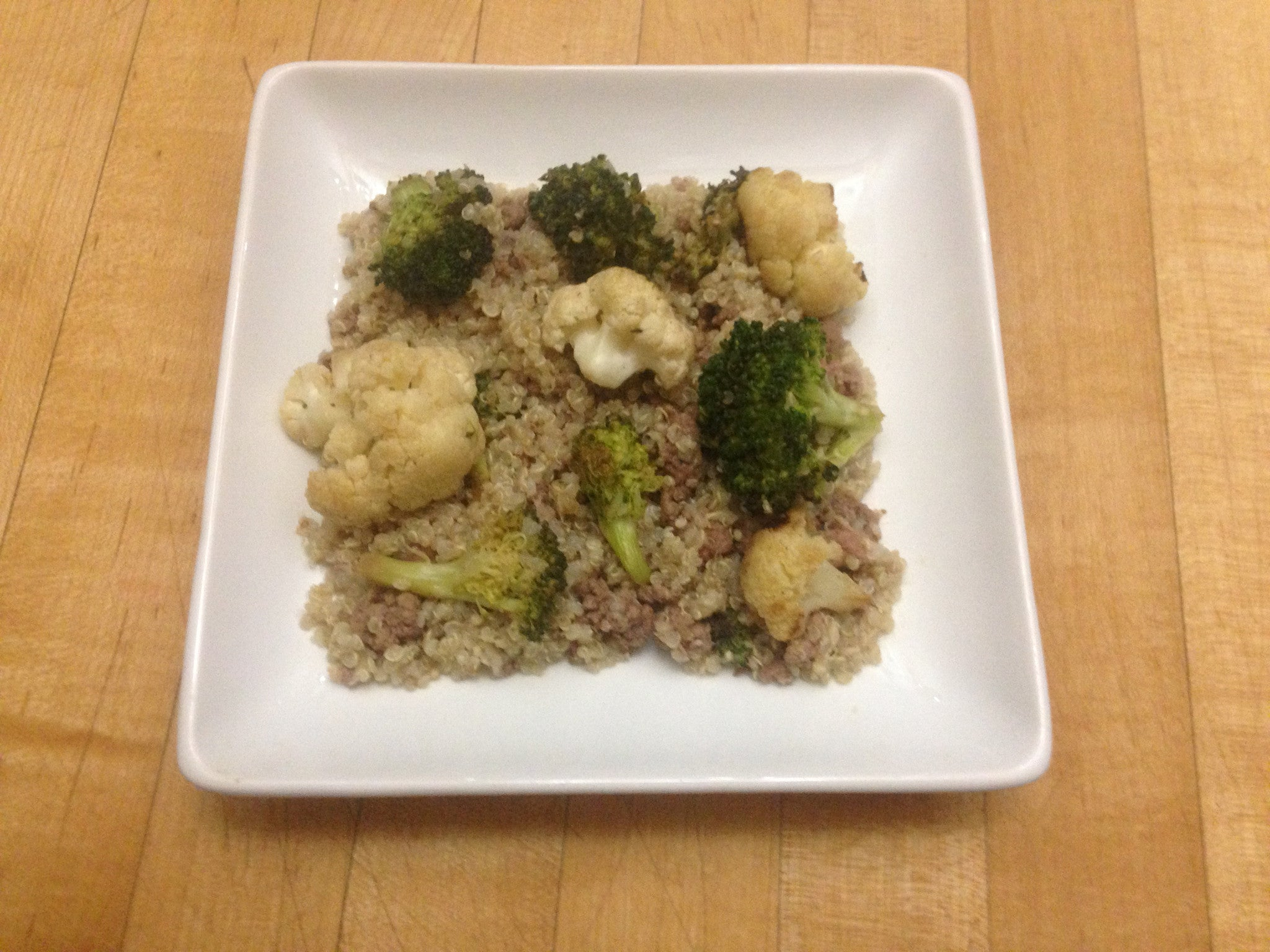pork-fried-quinoa-with-broccoli-&-cauliflower-skillit-simple-easy-recipes-dinner-skillet