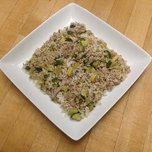squash-and-zucchini-and-fried-rice-with-salmon-skillit-simple-easy-recipes-dinner-skillet