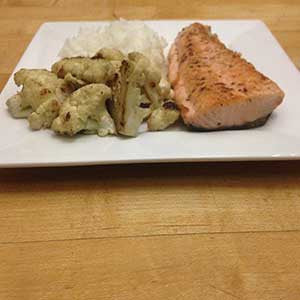 pan-cooked-salmon-with-sauteed-cauliflower-&-rice-skillit-simple-easy-recipes-dinner-skillet