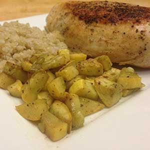 pan-fried-chicken-with-sauteed-squash-&-quinoa-skillit-simple-easy-recipes-dinner-skillet