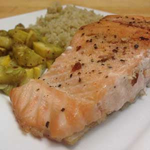 pan-seared-salmon-with-sauteed-squash-&-quinoa-skillit-simple-easy-recipes-dinner-skillet