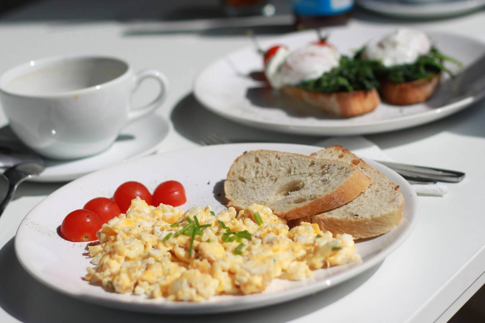 Loaded Veggie Scrambled Eggs<br><span>with Mushrooms + Peppers</span>