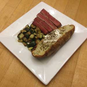 the-classic:-pan-seared-steak,-baked-potato-&-sauteed-zucchini-skillit-simple-easy-recipes-dinner-skillet