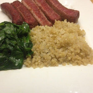 the-modern-classic:-steak,-spinach-&-quinoa-skillit-simple-easy-recipes-dinner-skillet
