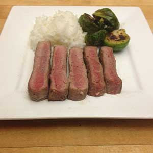 steak-with-balsamic-glazed-brussels-sprouts-&-rice-skillit-simple-easy-recipes-dinner-skillet