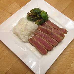 seared-ahi-with-brussels-sprouts-&-rice-skillit-simple-easy-recipes-dinner-skillet
