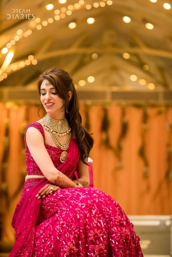 Maia Sethna Wears CHERIE D for her Wedding Sangeet