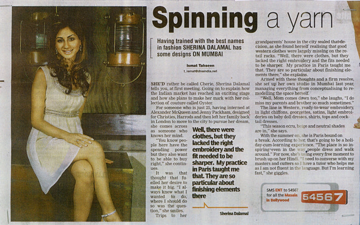 Sherina Dalamal in DNA India
