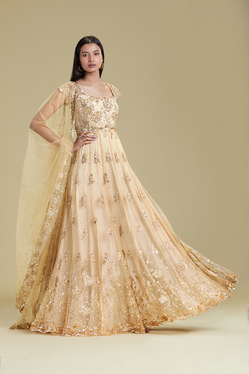 LACE APPLIQUE ANARKALI