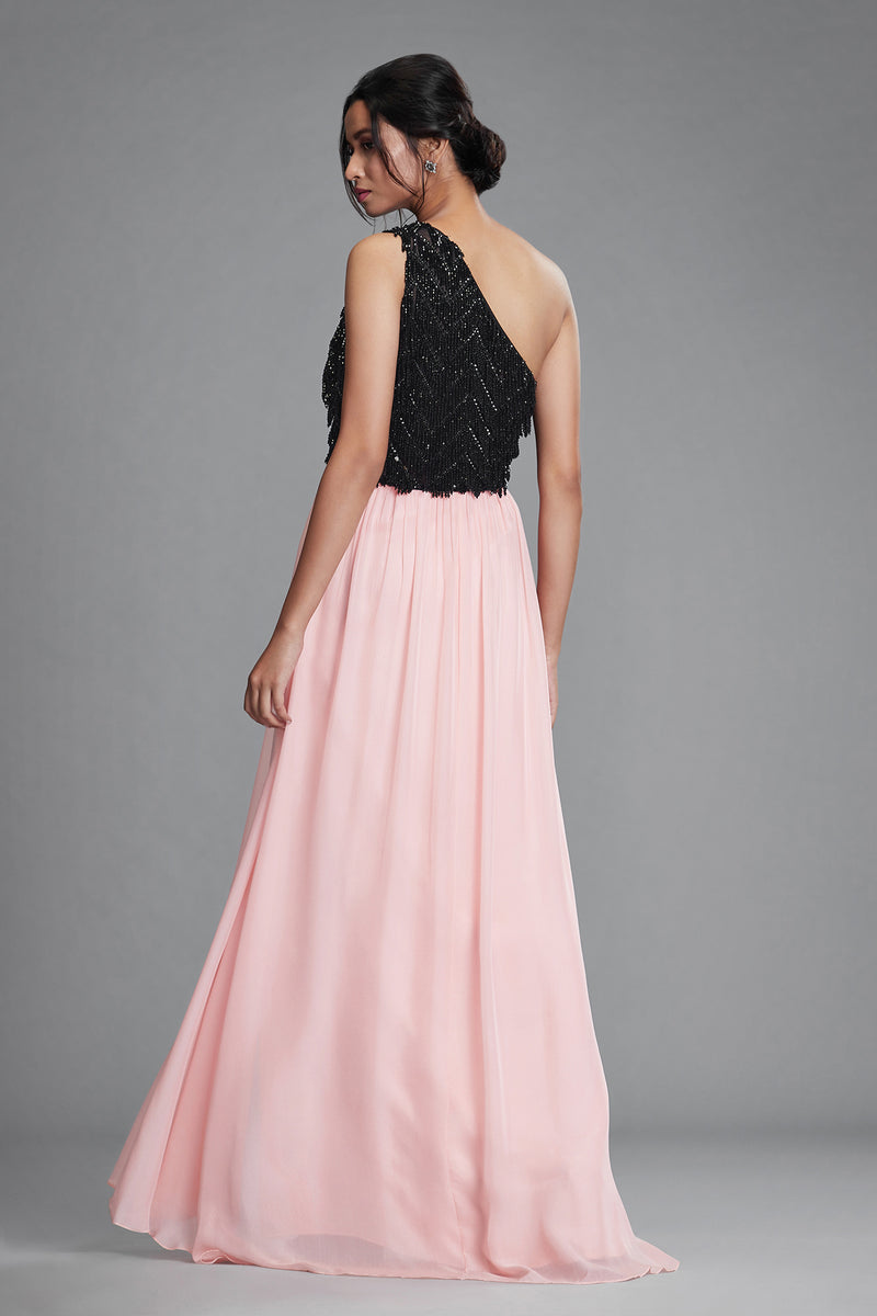 PINK ONE-SHOULDER GOWN