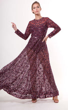 Maroon Mirror Embellished Anarkali Gown