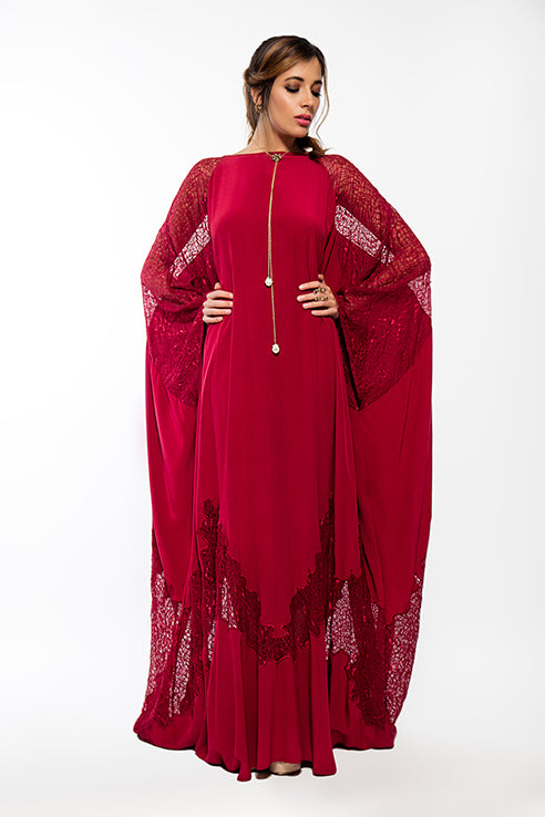 Lace Applique Kaftan