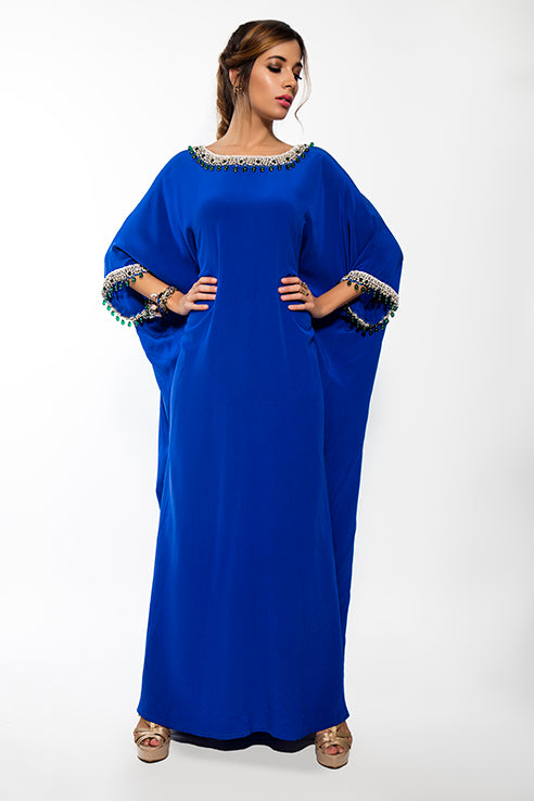 Royal Blue Maharani Kaftan
