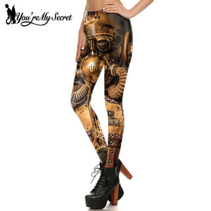 2017 Retro Robot Steampunk Leggings