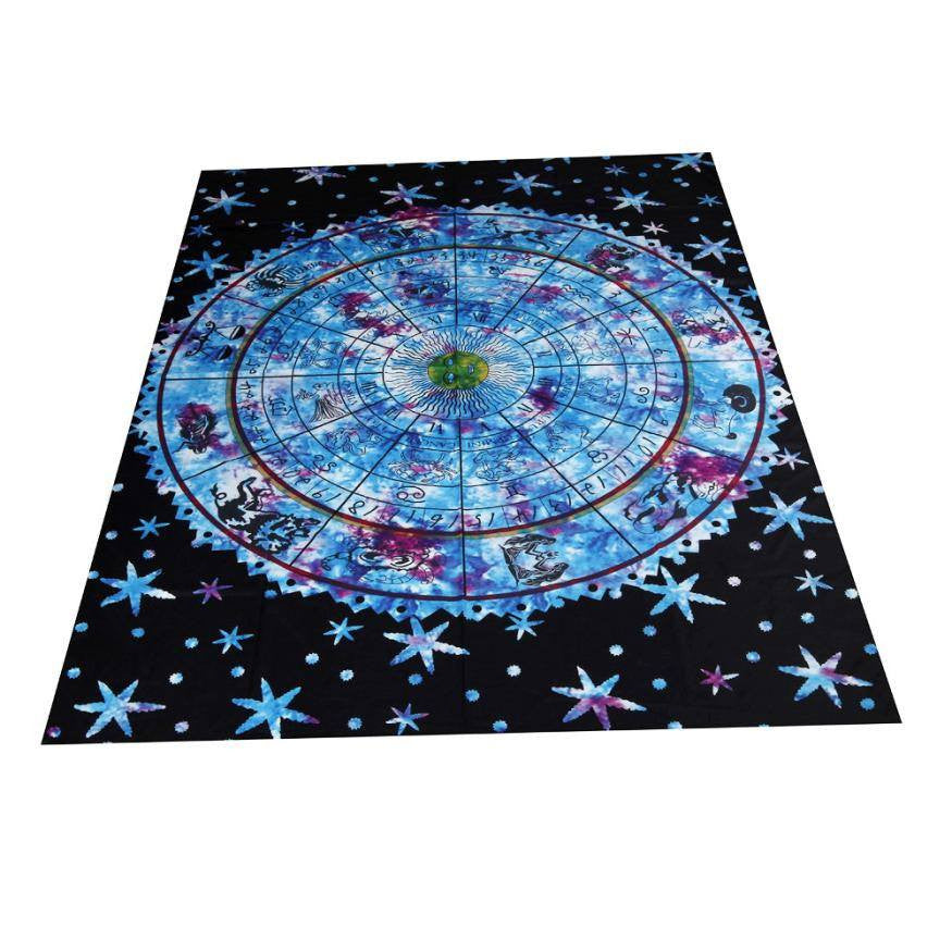 Beach Towels Square Yoga Constellation Tapestry