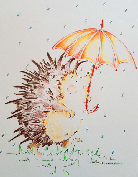 JanaRoos-illustrations-Hedgehoge-umbrella