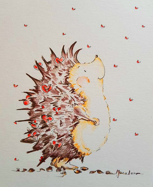 JanaRoos-illustrations-Hedgehoge-love