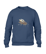 JanaRoos - T-shirts and Sweaters - Sweater - Packshot - Hand drawn illustration - Round neck - Long sleeves - Cotton - navy blue - navy blauw - honey bee - honing bij