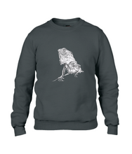 JanaRoos - T-shirts and Sweaters - Sweater - Packshot - Hand drawn illustration - Round neck - Long sleeves - Cotton - Black - Zwart - Iguana - IguJana