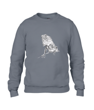JanaRoos - T-shirts and Sweaters - Sweater - Packshot - Hand drawn illustration - Round neck - Long sleeves - Cotton - Grey - Grijs - Iguana -IguJana