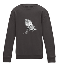 JanaRoos - T-shirts and Sweaters - Kid's Sweater - Packshot - Hand drawn illustration - Round neck - Long sleeves - Cotton - Charcoal - Grijs - Iguana - IguJana