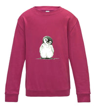 JanaRoos - T-shirts and Sweaters - Kid's Sweater - Packshot - Hand drawn illustration - Round neck - Long sleeves - Cotton - pink - roos - penguin - pinguin